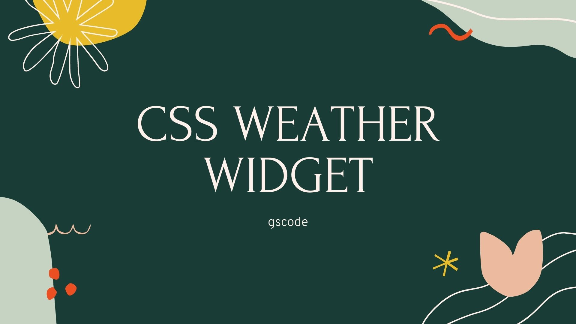 40+ Stunning CSS Weather Widget Example